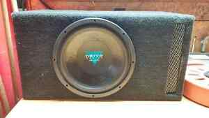 "Crunch 12"" 300 Rms Sub W/Ported Box"