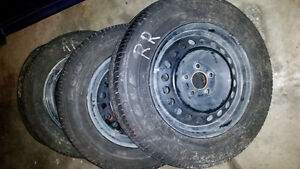 15×6 Ford Focus steel rims with tires