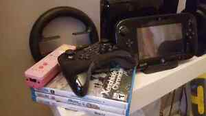 Nintendo Wii U w/ 3 Controllers and 3 Games