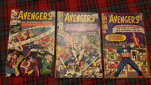 1965 to 1967       THE AVENGERS  COMIC BOOKS