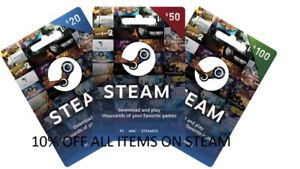 10% of the currently listed price of any STEAM ITEM