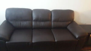 Leather Brown Couches