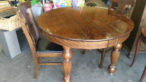 Solid Wood Table & Four Chairs