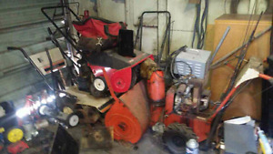 Rottor tillers and snow blowers
