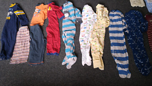 Lots of Boys size 18-24 months sleepers, jammys