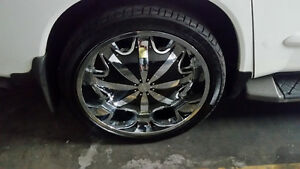 24 Inch rock start chrome rims Stratford Kitchener Area image 2