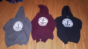 3 east coast sweaters. youth large