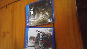 Fallout 4 and the witcher 3 ps4