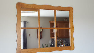 solid oak frame mirror