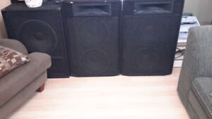 Peavy Stacks... 18 inch subs Black Widow . 2way Band Speakers.