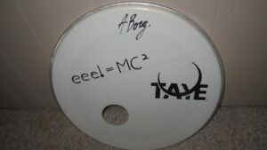 """16"""" & Signed 20"""" Drum Heads"""