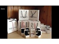 Genuine Pandora gift bags and boxes