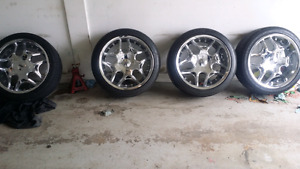 "18"" Roni Rims No crub rub with good tires 4x100 & 4x114"