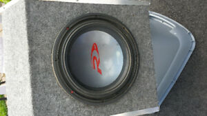 car audio equipment- woofer and amp