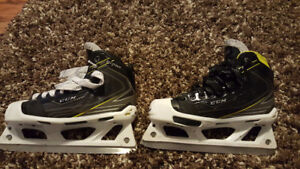 Various sized Goalie Skates