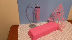 Barbie Bedroom Bed and Lamp set