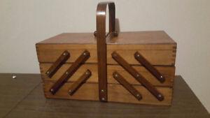 Vintage Accordion Sewing Box