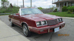 84 DODGE 600 turbo convertible low kms, well kept nice drive
