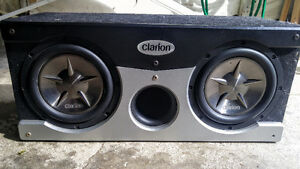 Clarion 10 subwoofers in clarion box