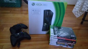 XBOX 360 w/ Controllers and Games