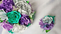 Handmade wedding/ bridal bouquet and boutonniere