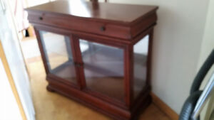 Cherry Hall Cabinet and Mirror