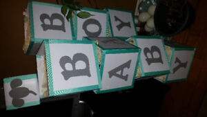 CENTERPIECE BABY BLOCKS (handmade)