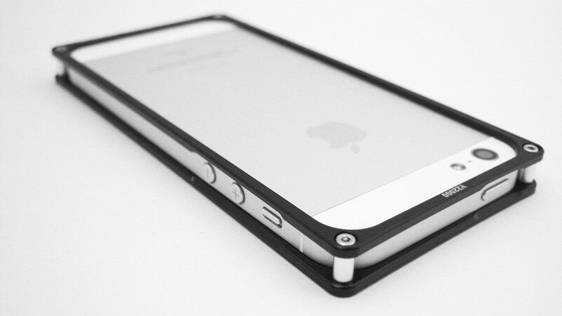 v22000 Aluminum 6061 T6 Metal Bumper Frame Case (Black Color) for iPhone 5, 5S