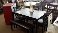 5pcs Table Set with Bench - NEW !