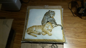Baby Cheeta and Lion Pillow