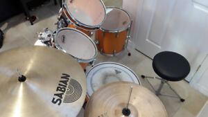Ludwig Accent Drums w/ Sabian & Paiste Cymbals