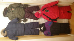 Boy Snow Suits, Size 12, 18 and 2.