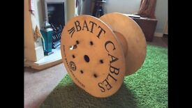 Large wooden cable reel
