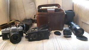 complete photography camera set.