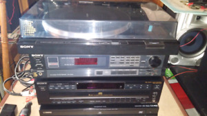Sony Turntable Receiver and Audio Research speakers