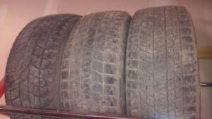 3 Blizzak Winter Tires for $75.00