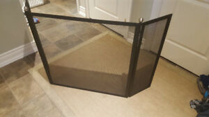 Fireplace Hearth Tri-panel Screen