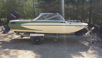 17 Foot Glastron Boat , Motor  and trailer