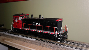 HO scale model train CN switcher DCC