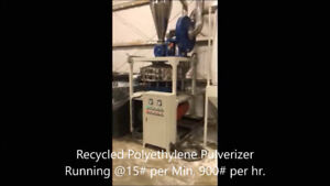 Pulverizer for Rotational Molding