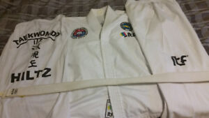 2 Tae kwon do uniforms