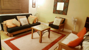 All inclusive bright and clean fully furnished 2 Bedroom Apt