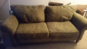 Get a good 3 seater fabric couch today we have to move Feb. 28th