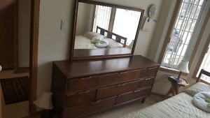 1940's Dresser, Chest of Drawers,  Headboard and Mattress