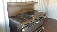 GARLAND COMMERCIAL PROPANE GRILL & DUAL OVEN - WORKS GREAT!