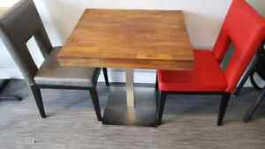 Restaurant chair and table for sale vancouver surrey langley