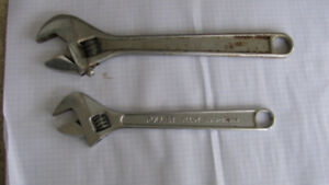 Crescent 300mm and Fuller 250mm Adjustable Wrenches