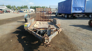 13' EQUIPMENT TRAILER-5 TONNE-TANDEM AXLE-BRAKES AND RAMPS