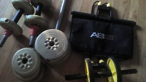 small to medium weights with 3 dumbells