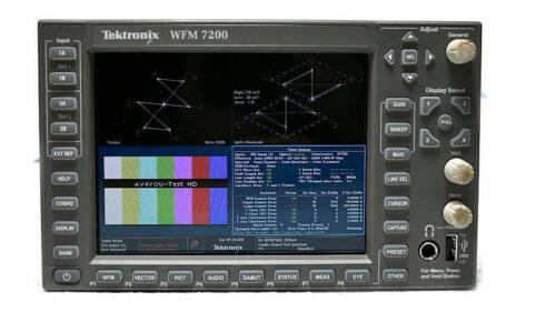 Tektronix WFM7200 HD/SD Waveform Monitor Multi Format Opt. STD WFM 7200